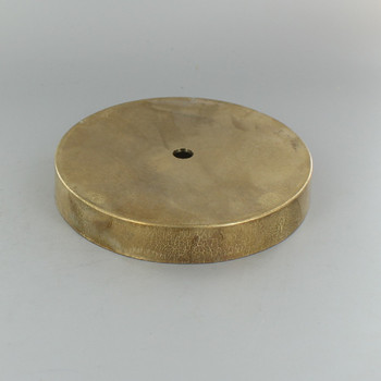 1/8ips Center Hole - 5in Cast Brass Canopy - Unfinished Brass
