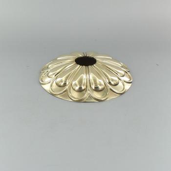 1-1/16in Center Hole - Cast Brass Arch Canopy - Polished Brass Finish