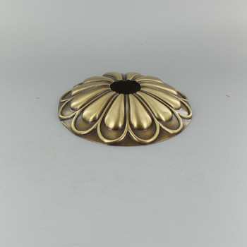 1-1/16in Center Hole - Cast Brass Arch Canopy - Antique Brass Finish