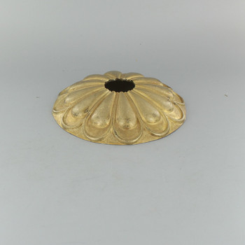 1-1/16in Center Hole - Cast Arch Canopy - Unfinished Brass