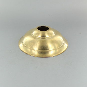 1-1/16in Center Hole - Cast Brass Tapered Canopy - Unfinished Brass