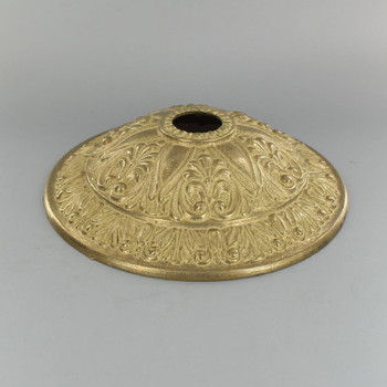 1-1/16in Center Hole - Cast Brass Six Point Canopy - Unfinished Brass