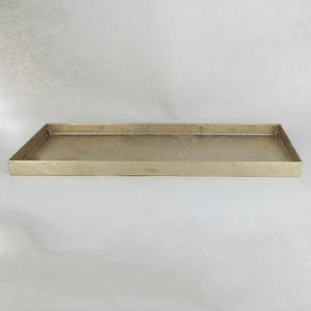 13-3/4in Long Cast Brass Rectangular Canopy/ Backplate