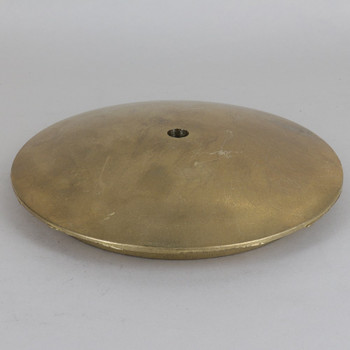 6-1/4in Screw Less Face Mount Cast Brass Round Canopy/Backplate - Unfinished Brass