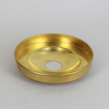 1-1/16in Center Hole - Plain Spun Canopy - Unfinished Brass