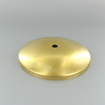1/8ips Center Hole - Modern Solid Brass Canopy - Unfinished Brass
