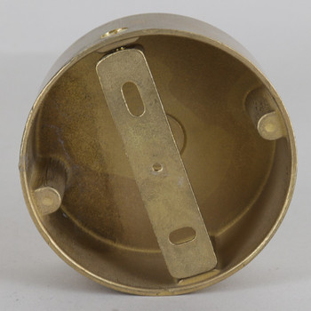 3in Diameter Round Cast Brass Screwless Face Mount Backplate/ Canopy.