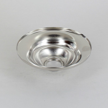 1-1/16in Center Hole - Tapered Spun Canopy - Nickel Plated Finish