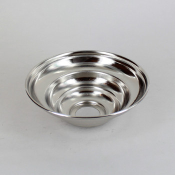 1-1/16in Center Hole - Small Spun Beehive Canopy - Nickel Plated Finish