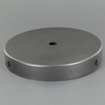 5in Screw Less Face Mount Steel Round Canopy - Unfinished Steel