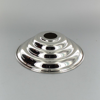 1-1/16in Center Hole - Large Spun Beehive Canopy - Nickel Plated Finish