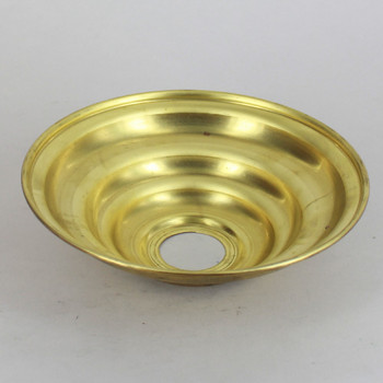 1-1/16in Center Hole - Large Spun Beehive Canopy -  Unfinished Brass