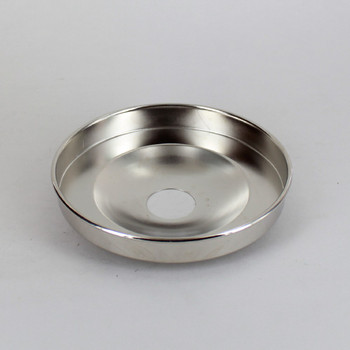 1-1/16in Center Hole - Plain Spun Canopy - Nickel Plated Finish