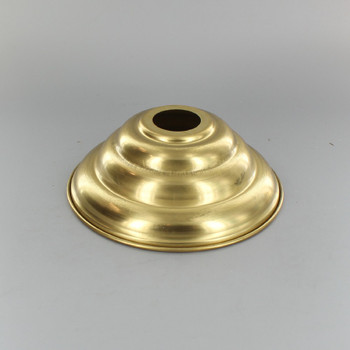 1-1/16in Center Hole - Small Spun Beehive Canopy - Unfinished Brass