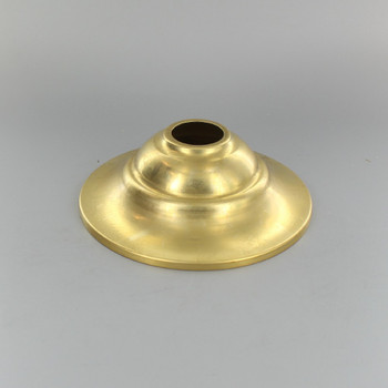 1-1/16in Center Hole - Tapered Spun Canopy - Unfinished Brass