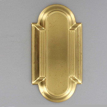 Art Deco Design Stamped Backplate- Unfinished Brass