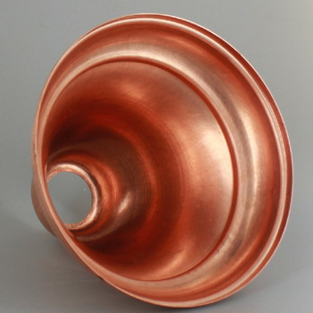 1-1/16in Center Hole - Deep Spun Bell Canopy - Unfinished Copper Finish