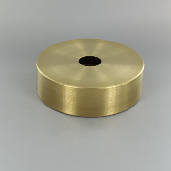 1-1/16in Center Hole - Spun Flat Deep Canopy - Unfinished Brass