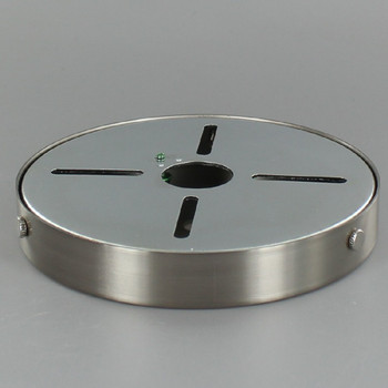 5in Screw Less Face Mount Steel Round Canopy - Brushed/Satin Nickel Finish