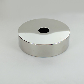 1-1/16in Center Hole - Spun Flat Deep Canopy - Polished Nickel Finish
