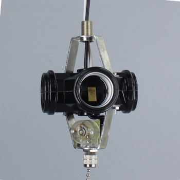 1/8ips Male X 1/8ips Female 4 Light Phenolic Cluster with Pull Chain Switch and 8in. Leads