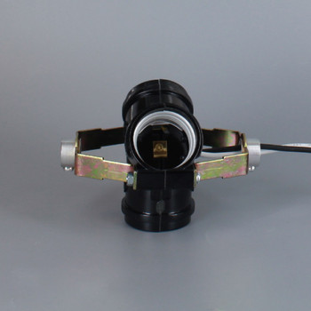 3 LIGHT CLUSTER WITH 1/8ips FEMALE THREADED 1.4in BRACKETS AND 72in 18/1 AWM WIRE LEADS.