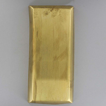 Rectangle Stamped Backplate- Unfinished Brass