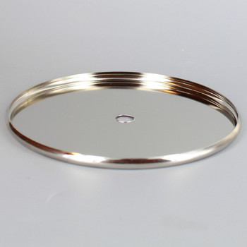 4-1/2in Stamped Steel Check Ring - Polished Nickel Finish