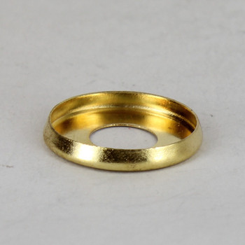 1in Stamped Brass Checkring For Use With Paper Drip Candle Covers - Unfinished Brass