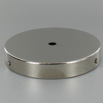 5in Screw Less Face Mount Steel Round Canopy - Polished Nickel Finish