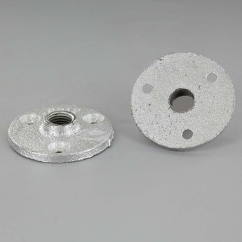 Zinc Plated Cast Iron Flange with 1/4ips. Threaded Center Hole