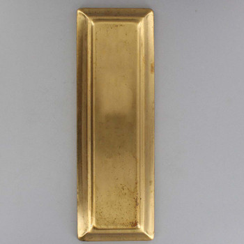 9in Rectangle Stamped Backplate- Unfinished Brass