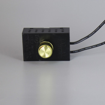 300W Max - 120V Rotary Dimmer Switch with Plastic Housing and 1/4in long shank