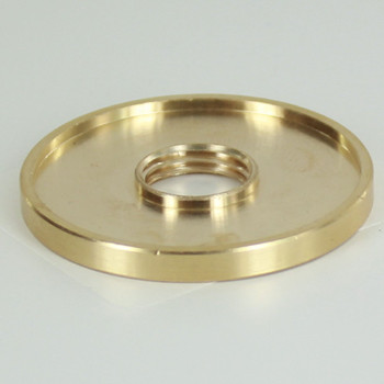 1in. X 1/4ips Threaded Straight Edge Turned Brass Check Ring