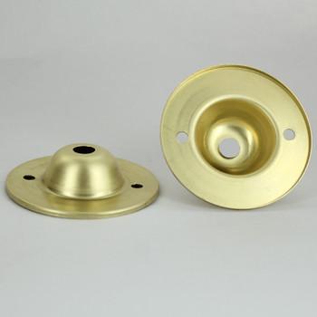 Brass Stamped Flange with 1/8ips Slip (7/16in) diameter center hole.