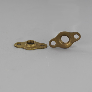 Unfinished Brass Flange with 5/16 Threaded Center Hole