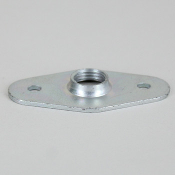 Unfinished Stamped Steel Flange with 1/4ips. Threaded Center Hole