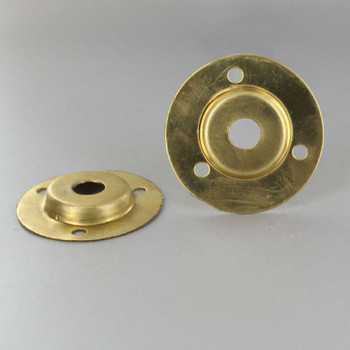 Unfinished Brass Flange with 1/8ips. Slip Through Center Hole