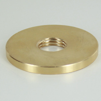 1-1/2in.X 1/4ips Threaded Straight Edge Turned Brass Check Ring