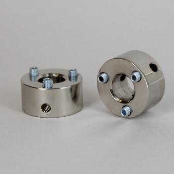 Polished Nickel Finish 3 Hole Spider Washer with Set Screws and 1/8ips. Slip Through Center Hole