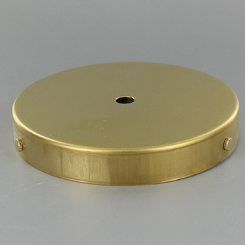 5in Screw Less Face Mount Steel Round Canopy - Unfinished Brass
