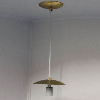 5-1/4 Neckless Ball Fixture with Unfinished Brass Holder and Canopy