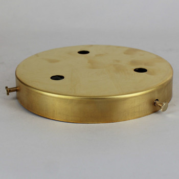 5in 3-Hole Multiport Screw less face mount Canopy - Unfinished Brass