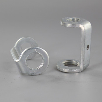1/4ips. X 1/8ips. Stamped Zinc Plated Steel Long Hickey with 8/32 Threaded Hole