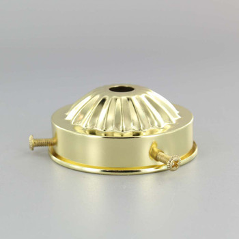 2-1/4in. Brass Plated Holder with Screws