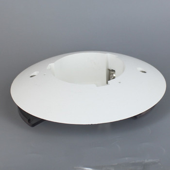 5.25 in. Neckless Holder  for 3 in. Post Top  with 1/8 slip hole - White