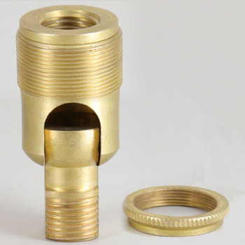 3/8ips. Male Bottom X 1/8ips. Female Top Unfinished Brass 90 Degree Hang Straight