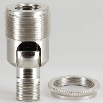 3/8ips. Male Bottom X 1/2ips. or 1/4ips Female Top Nickel Plated Finish 90 Degree Hang Straight