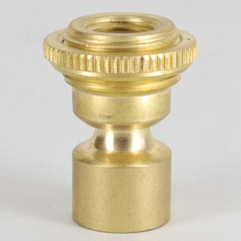 1/8ips. Female Bottom X 1/4ips. Female Top Unfinished Brass Hang Straight Kit