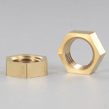 1/4ips. Unfinished Brass Heavy Duty Hex Head Nut